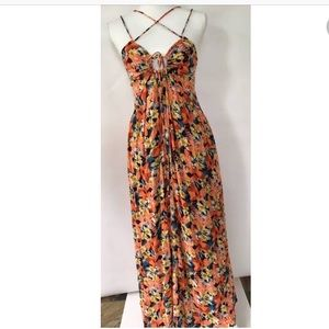 Free People Floral Strappy Dress